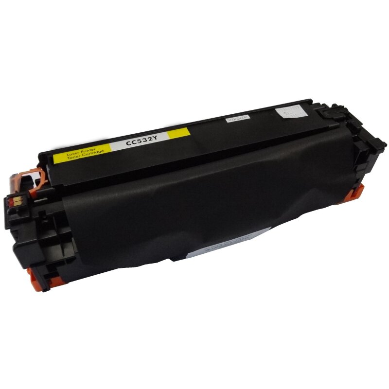 Bubprint Toner Yellow kompatibel für HP CC532A