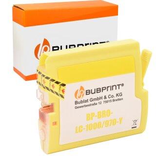 Bubprint Patrone Yellow kompatibel für Brother LC1000 LC970 LC-1000 LC-970