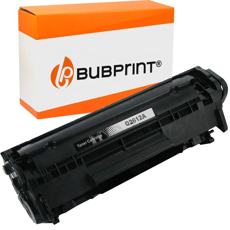 Bubprint Toner Black kompatibel für HP Laserjet Q2612A HP LaserJet 1020 Canon LBP-2900 HP LaserJet 1018 HP LaserJet M 1005 MFP HP LaserJet 1010