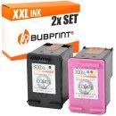 Bubprint 2 Druckerpatronen kompatibel für HP 300 XL...