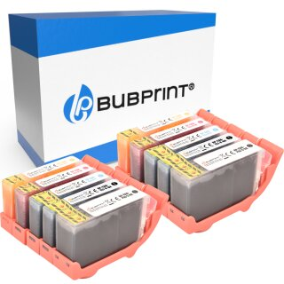 Bubprint 10 Druckerpatronen kompatibel für Canon PGI-5 CLI-8