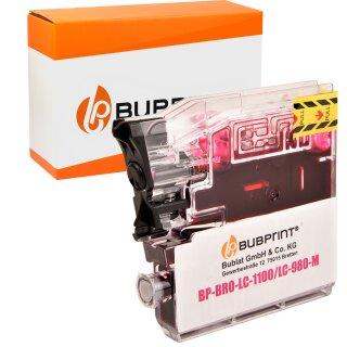 Bubprint Patrone Magenta kompatibel für Brother LC1100 LC980 LC-1100 LC-980
