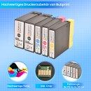 Bubprint 5 Druckerpatronen kompatibel für Canon PGI-2500 black cyan magenta yellow Maxify MB4050 MB5050