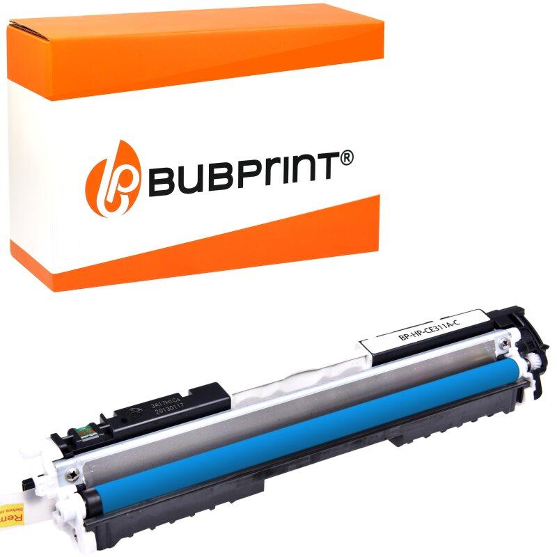 Bubprint Toner kompatibel für HP CE311A Cyan