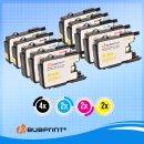 Bubprint 10 Druckerpatronen kompatibel für Brother LC-1220 / LC-1240