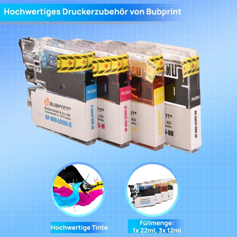 4 druckerpatronen kompatibel f r brother lc985 lc 985 2 05 s. Black Bedroom Furniture Sets. Home Design Ideas