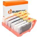 Bubprint 5 Tintenpatronen kompatibel für Canon...