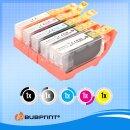 Bubprint 5 Tintenpatronen kompatibel für Canon CLI-521 PGI-520
