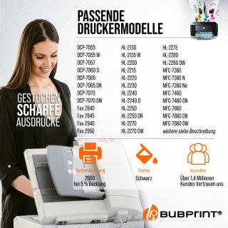 Bubprint Toner (2.600 S) kompatibel für Brother TN-2220 / TN-2010 black für Brother DCP-7065 DN MFC-7860 DN DW