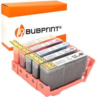 Bubprint 5 Druckerpatronen kompatibel für HP 364 XL Set mit Chip und Füllstand