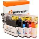 Bubprint 4 Druckerpatronen kompatibel für Brother LC-1100 LC-980  black cyan magenta yellow