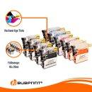 Bubprint 10 Druckerpatronen kompatibel für Brother LC-1100 LC-980  black cyan magenta yellow