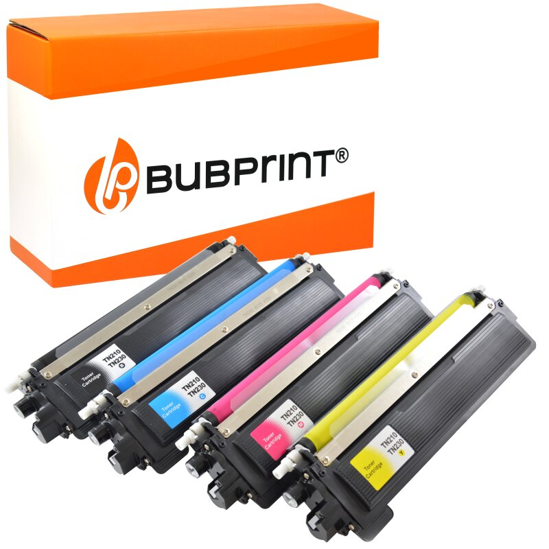 Bubprint 4 Toner kompatibel für Brother TN-230 black cyan magenta yellow für Brother DCP-9010CN, HL-3040CN 3070CW, MFC-9120CN 9320CW