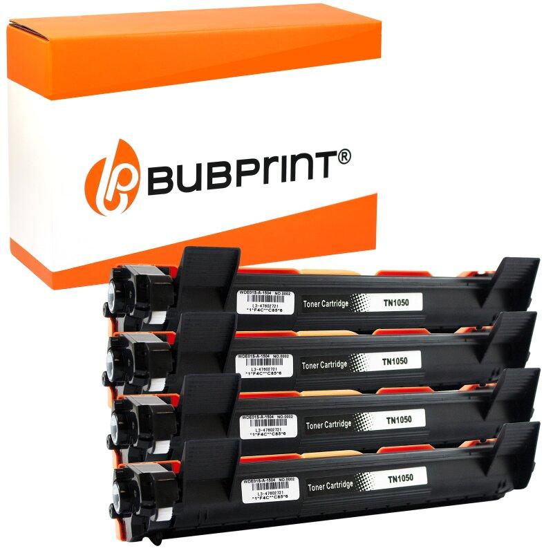 Bubprint 4 Toner XXL kompatibel für Brother TN-1050 HL-1110 DCP-1510 MFC-1910 W schwarz
