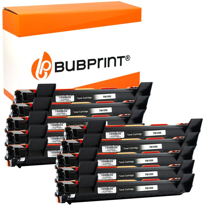 Bubprint 10 Toner XXL kompatibel für Brother TN-1050 HL-1110 DCP-1510 schwarz