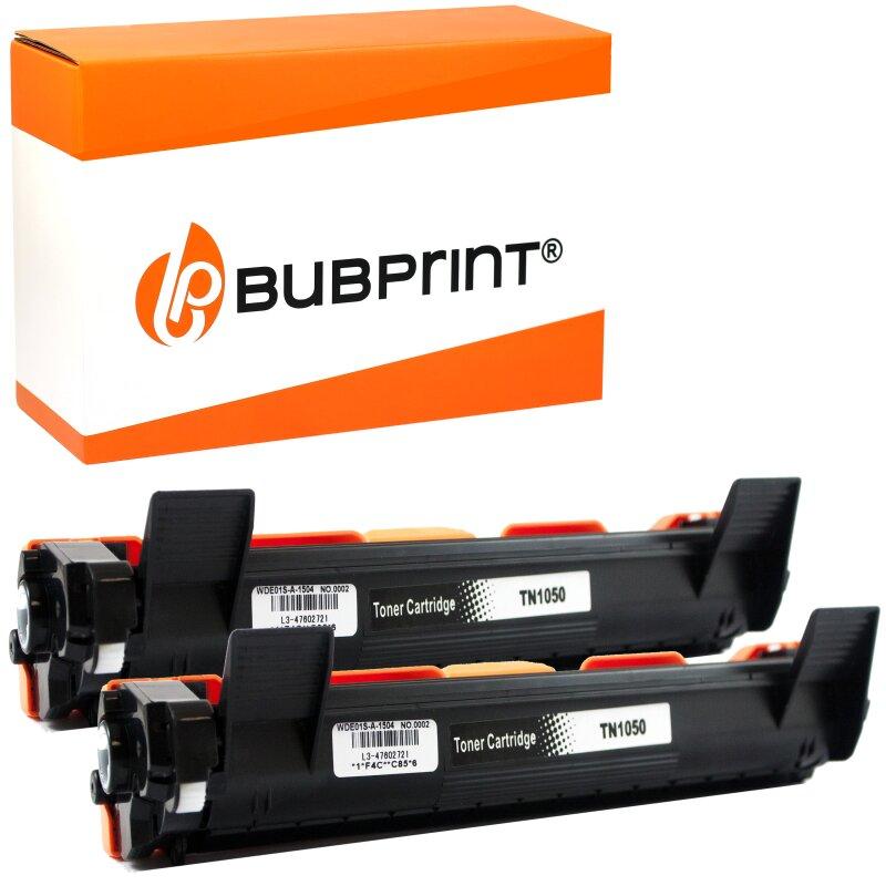 Bubprint 2 Toner XXL kompatibel für Brother TN-1050 HL-1110 DCP-1510 MFC-1910 W schwarz
