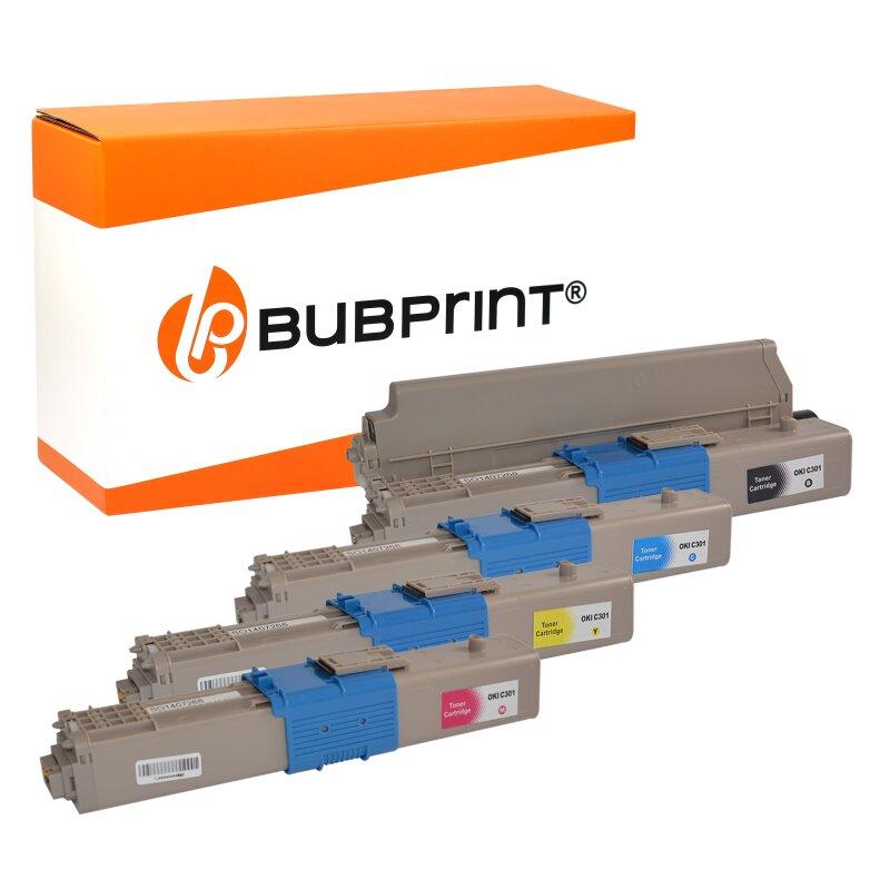 Bubprint 4 Toner kompatibel für OKI C301 C321 MC332 MC342 SET