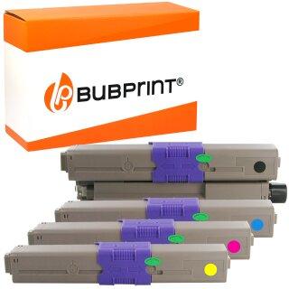 Bubprint 4 Toner kompatibel für OKI C310 C330 C510 C530 SET