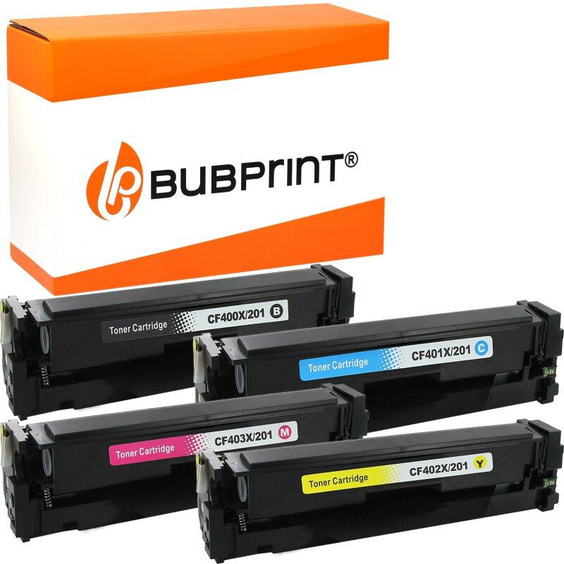 Bubprint 4 Toner kompatibel für HP HP CF400X-403X LaserJet Pro M252dw M252N M274DN M274N M277N M277DW