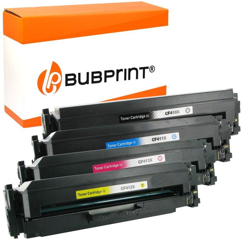 Bubprint 4 Toner kompatibel für HP CF410X – 413X XXL HP Color LaserJet Pro MFP M477fdw M477fdn
