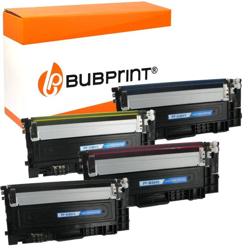 Bubprint 4 Toner kompatibel für Samsung CLT-404S black cyan magenta yellow Xpress C430 C480