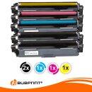 Bubprint 5 Toner kompatibel für Brother TN-242 TN-246 black cyan magenta yellow DCP-9022 CDW HL-3142 CW