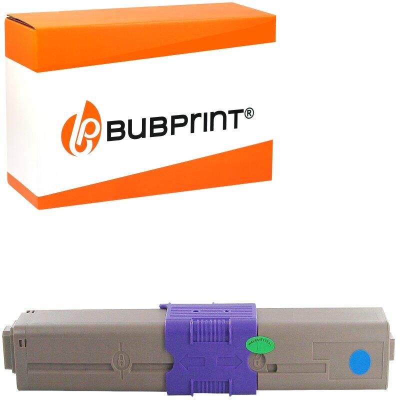 Bubprint Toner Cyan kompatibel für OKI C310 C330 C510 C530