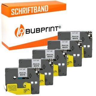 Neu Weiß auf Schwarz Etikett-Band Set für Brother Tz Tze 335 P-Touch Tze335 12mm