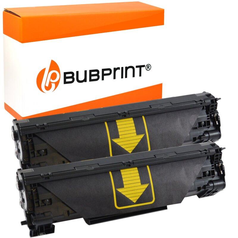Bubprint DOPPELPACK 2 Toner black kompatibel für HP CF283A