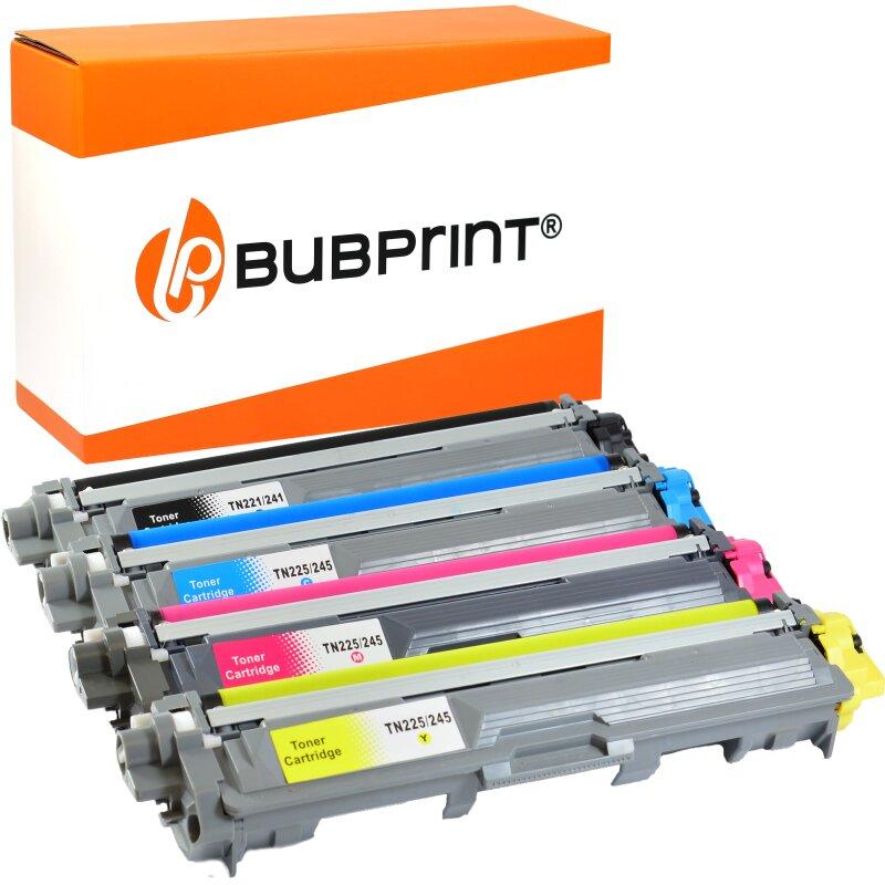 Bubprint 4 Toner kompatibel für Brother TN-241 TN-245 black cyan magenta yellow