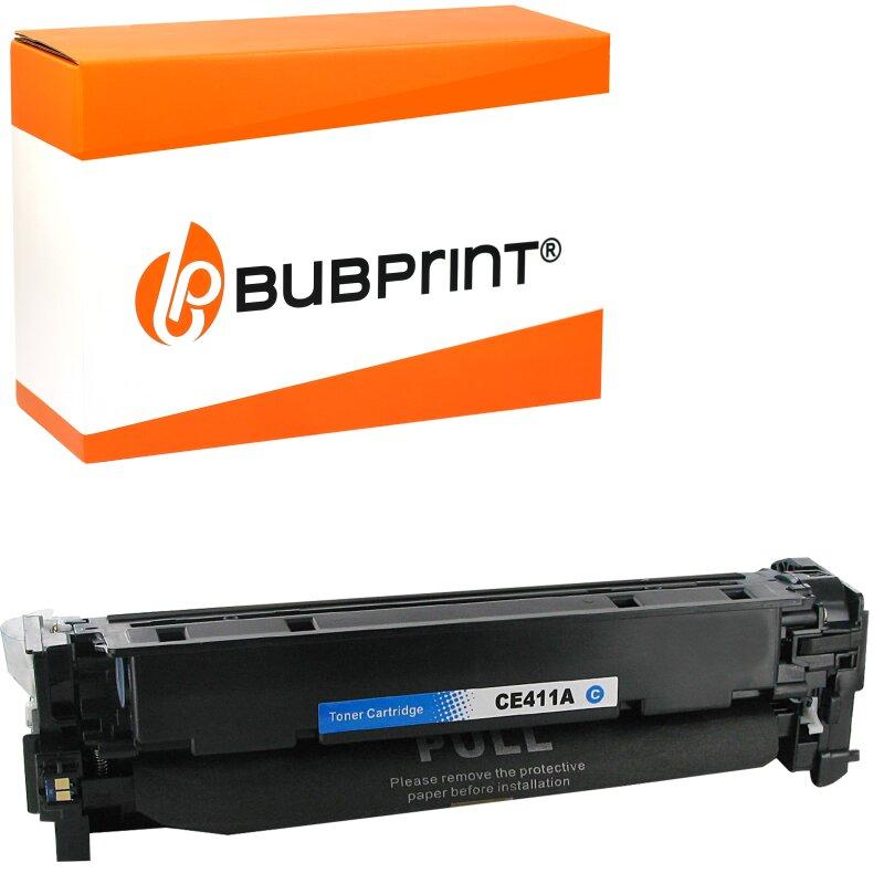 Bubprint Toner cyan kompatibel für HP CE411A 305A