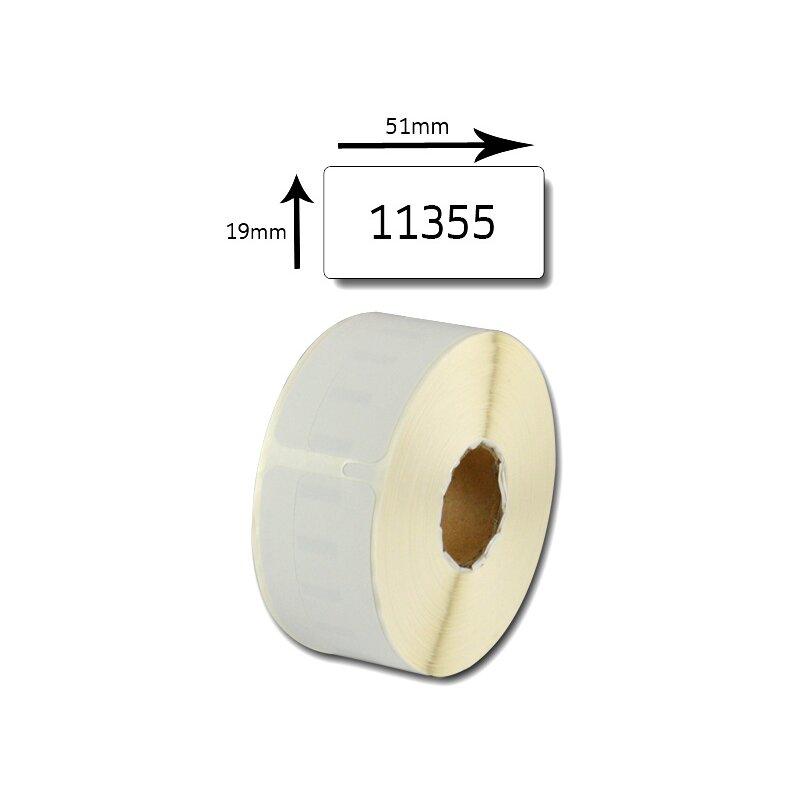 Bubprint Etiketten kompatibel für Dymo 11355 S0722550 51x19mm, weiss