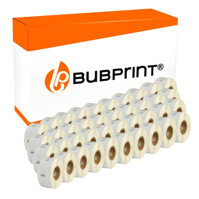 Bubprint 40x Etikettenrolle kompatibel für Dymo 11353 S0722530 25x13mm SET