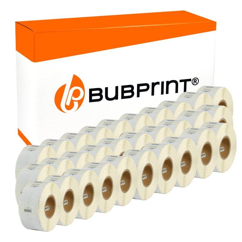 Bubprint 30x Etikettenrolle kompatibel für Dymo 11353 S0722530 25x13mm SET