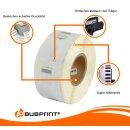 Bubprint 20x Etikettenrolle kompatibel für Dymo 11353 S0722530 25x13mm SET