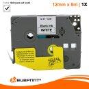 Bubprint Schriftband kompatibel für Brother TZe231 TZe-231 schwarz/weiß 12mm 8m