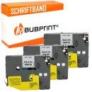 Bubprint 3x Schriftband kompatibel für Brother TZe231 TZe-231 schwarz/weiß 12mm 8m