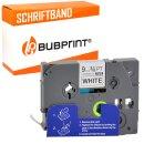 Bubprint Schriftband kompatibel für Brother TZe221 TZe-221 9mm 8m