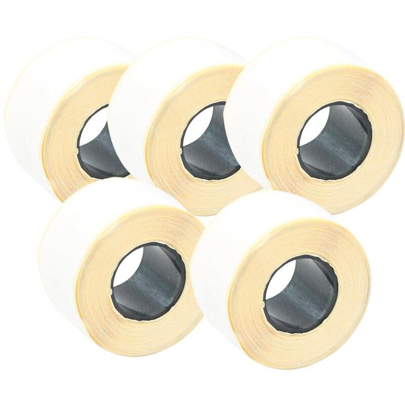 Bubprint 5x Rollen Etiketten kompatibel für Dymo 99010 S0722370 89x28mm, weiss