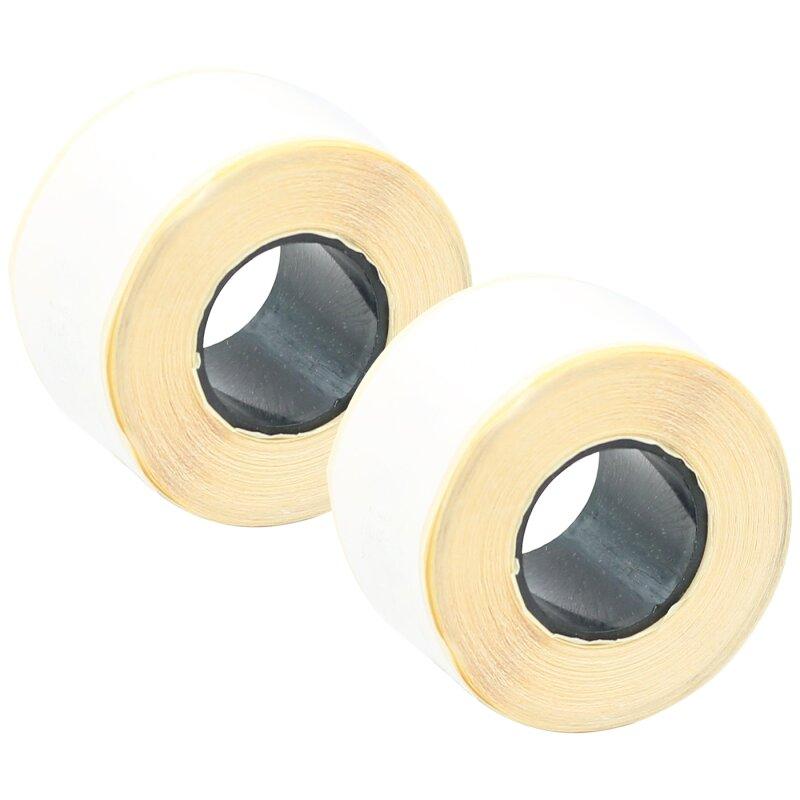 Bubprint 2x Rollen Etiketten kompatibel für Dymo 99010 S0722370 89x28mm, weiss