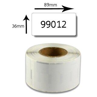 Bubprint Etiketten kompatibel für Dymo 99012 S0722400 89x36mm, weiss
