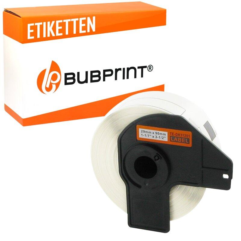 Bubprint Etiketten kompatibel für Brother DK-11201 #1201 29mm x 90mm