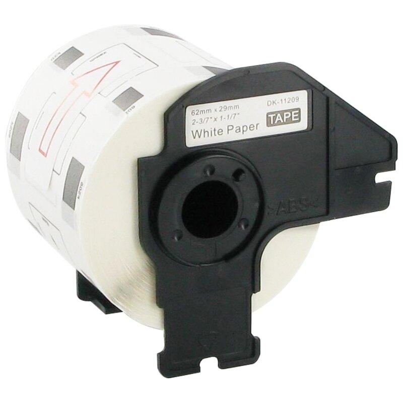 Bubprint Etiketten kompatibel für Brother DK-11209 #1209 62mm x 29mm