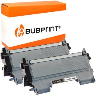 Bubprint 2x Toner (5.200 S) kompatibel für Brother TN-2220 XXL / TN-2010 XXL black Brother DCP-7065 DN MFC-7860 DN DW HL-2240 Series HL-2200 Series