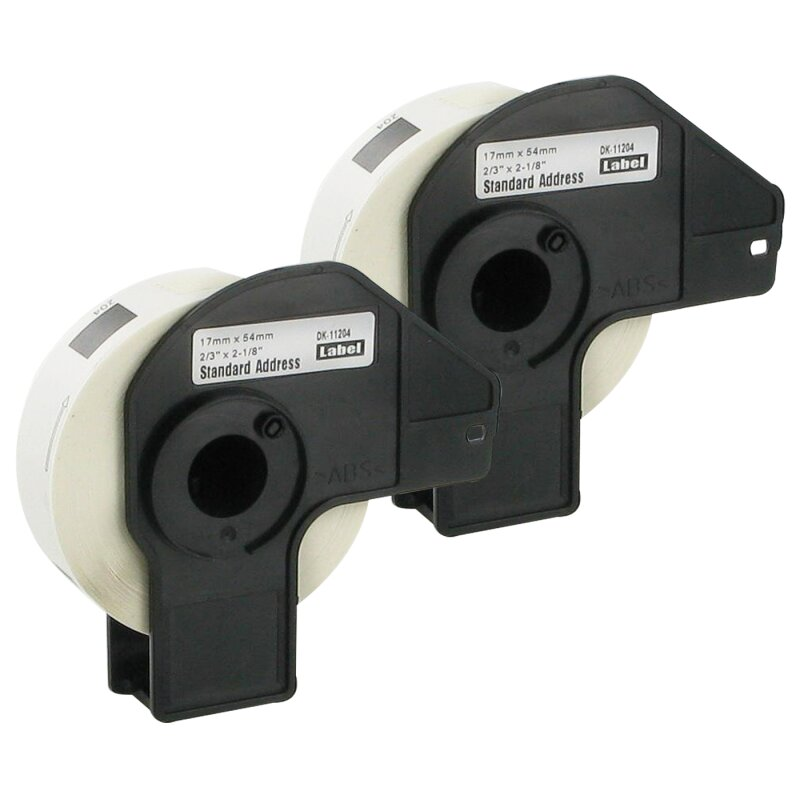 Bubprint 2x Rollen Etiketten kompatibel für Brother DK-11204 #1204 17mm x 54mm