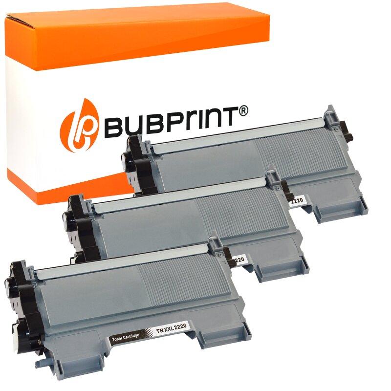 Bubprint 3x Toner (5.200 S) kompatibel für Brother TN-2220 XXL / TN-2010 XXL black Brother DCP-7065 DN MFC-7860 DN DW HL-2240 Series HL-2200 Series