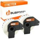 Bubprint 2x Rollen Etiketten kompatibel für Brother...