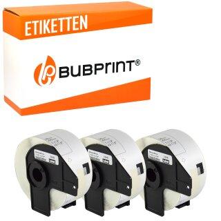 Bubprint 3x Rollen Etiketten kompatibel für Brother DK-11208 #1208 38x90mm
