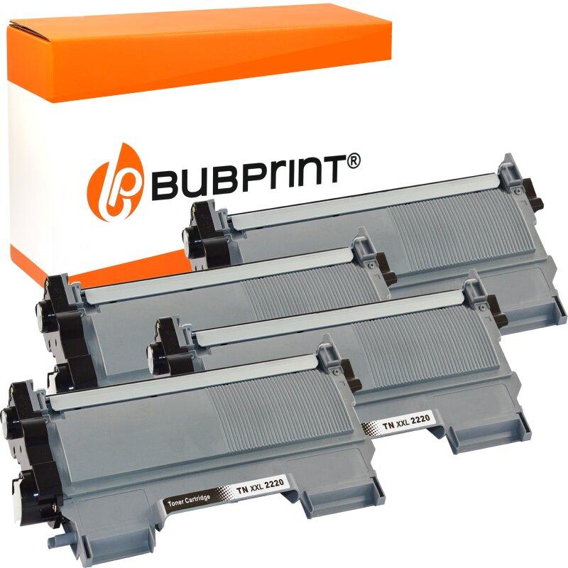Bubprint 4x Toner (5.200 S) kompatibel für Brother TN-2220 XXL / TN-2010 XXL black Brother DCP-7065 DN MFC-7860 DN DW HL-2240 Series HL-2200 Series