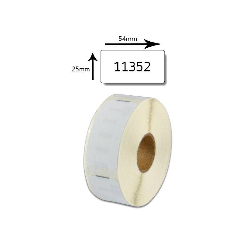 Bubprint Etiketten kompatibel für Dymo 11352 S0722520 25x54mm, weiss